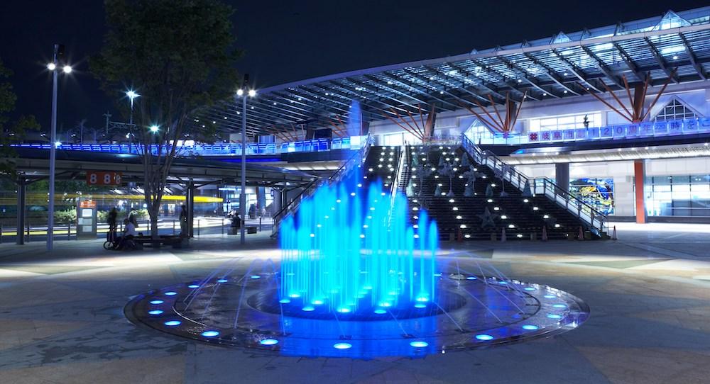 JR岐阜駅北口 噴水